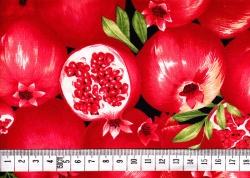 Látky - vzor 123957 Granátové jablko -