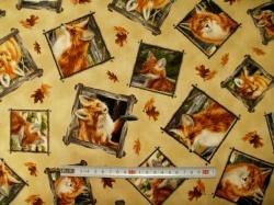 Látky - vzor 23474 Liška  - obrázky  - 23474 -
