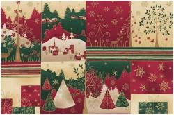 vzor 4595-275 Vánoce zlatotisk 275 - panel - Panel