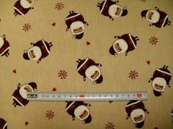 Látky - vzor 12281-0802 Santa Claus  -