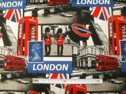 Látky - vzor 49-069 Londýn 02 - Šířka 160  cm