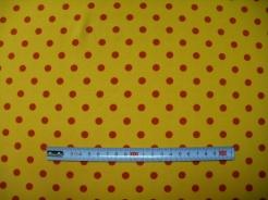vzor 123751-0806 Puntík na žluté - JERSEY -