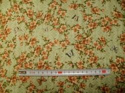 vzor 601014 Santoro  14 - květy na zelené -