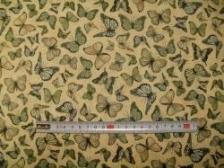 Látky Patchwork - Santoro 11 - motýli  zelení