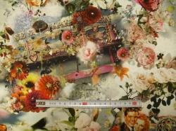 Látky - vzor 7001661 Květinový obraz -
