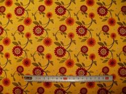 Látky - vzor 601043 Sun Flower Garden - květy žluté -