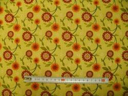 vzor 601042 Sun Flower Garden - květy zelené -