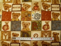 Látky - vzor 50183 Medvědi 183  -
