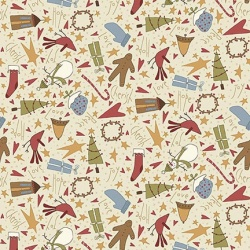Látky - vzor 4790-305 Under the Mistletoe 305 -