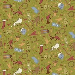 Látky - vzor 4790-306 Under the Mistletoe 306 -