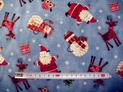 Látky - vzor 50213  Sněhulák tm. modrá - Bundle up -