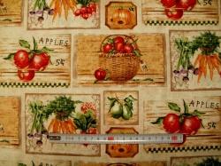 Látky - vzor 50205 Zelenina 02- Farmers Market -