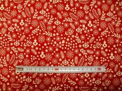 vzor 125096-5019 Větvičky na červené -