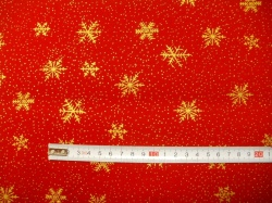 vzor 122351-1070 Vločky na červené -