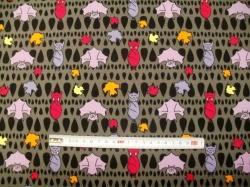 vzor 3010-10 Netopýři fialovo-růžoví   - JERSEY -