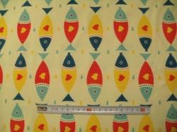 vzor 2411-01 Ryby na žluté -