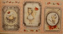 Látky - vzor 17-001 Mirabelle 2 - La vie en Rose 01 - Panel, opakuje se po 60 cm