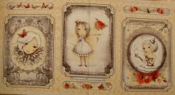 Látky - vzor 17-002 Mirabelle 2 - La vie en Rose 02 - Panel, opakuje se po 60 cm