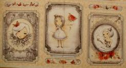 vzor 17-002 Mirabelle 2 - La vie en Rose 02 - Panel, opakuje se po 60 cm