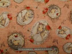 Látky Patchwork - Mirabelle 2 - La vie en Rose 03