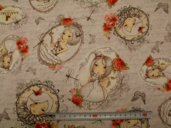 Látky - vzor 17-004 Mirabelle 2 - La vie en Rose 04 - Průběžný vzor