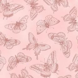 Látky - vzor 4702-878 Butterfly Botanical 878 -