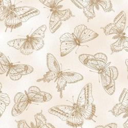 Látky - vzor 4702-879 Butterfly Botanical 879 -