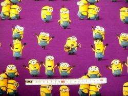 vzor 125502-0003 Mimoni na fialové - Jersey -