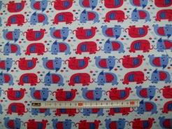 vzor 17-084 Sloni na modré - Jersey -