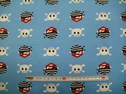 vzor 1902- 01 Teplákovina - Piráti na světle modré - Teplákovina nepočesaná