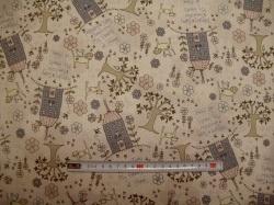 Látky - vzor 77-320 Lynette Anderson - domečky 01  -