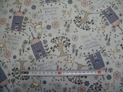 Látky - vzor 77-333 Lynette Anderson - domečky 02  -