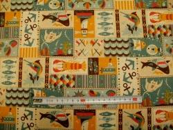 Látky - vzor 3620-2011 Režná - patchwork 01 - taškovina  -