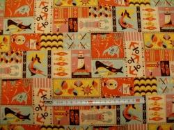 Látky - vzor 3620-2012 Režná - patchwork 02 - taškovina  -