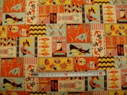 Látky Patchwork - Režná - patchwork 02 - taškovina