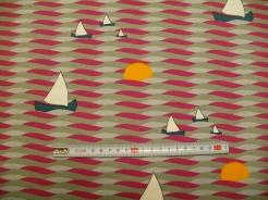 vzor 630935 Vlnky a lodičky 01 - JERSEY -