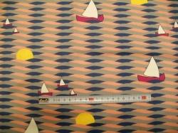 vzor 630432 Vlnky a lodičky 03 - JERSEY -