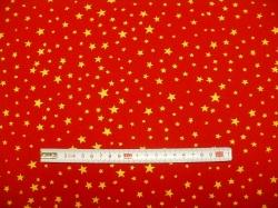 vzor  122350-1050 Hvězdičky 04 na červené -