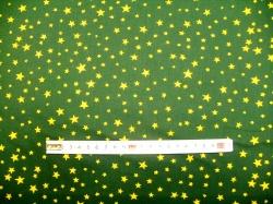 Látky Patchwork - Hvězdičky 04 na zelené