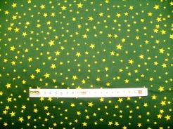 vzor  122350-1051 Hvězdičky 04 na zelené -
