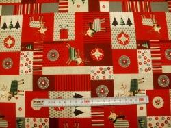 Látky Patchwork - Vánoční patchwork 01