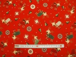 vzor  126742-5019 Vánoční k 126741 červená -