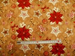 vzor  125127-0801 Vánoční punčocha na hnědé -
