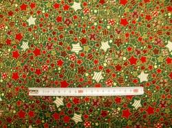 vzor 123975-5031 Hvězdy 02 na zelené -