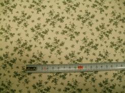 vzor 127486-0810 Zelená květinka na krémové -