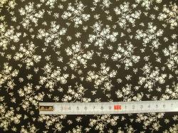 vzor 127486-0801 Krémová květinka  na černé -
