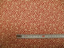 vzor 127485-0806 Červené lístečky  na krémové -