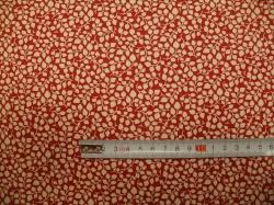 vzor 127485-0805 Krémové lístečky na červené -