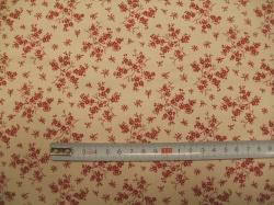 vzor 127486-0806 Červená květinka na krémové  -
