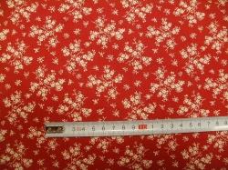 vzor 127486-0805 Krémová květinka na červené -